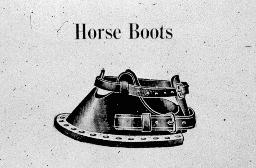 Horse boots to prevent horse hooves from damaging turf.