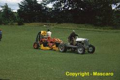 The West Point Master Verti-Cut bagged the thatch as it was operated across the fairway.