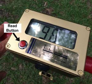 Read button on Turf-Tec Digital Moisture Sensor