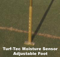 Specially designed quick probe depth adjustment from zero to four inches deep. Instant read out dial tells you the percentage of moisture in the soil.  This is the ideal moisture meter for testing soil moisture as the Turf-Tec Moisture Sensor is simple to use, easy to read and durable.   Moisture Meter.   Moisture Meter.