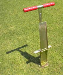 The Turf-Tec 12 inch deep Mascaro Profile Sampler allows the entire Soil Profile can be re-inserted into the same hole after inspection so no damage is left to the turf