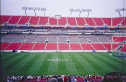 Superbowl XXXV was played at Tampa Stadium in Tampa, FL.  The turf was fiber reinforced 419 Bermudagrass with 30# of PHD blend overseeded onto it.