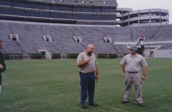 The University of Alabama, Tuscaloosa, AL.  This is Scott Urbane, Sports Turf Manager explaining about the field renovation that took place last fall.