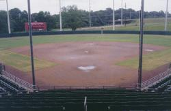 This is the University of Alabama's woman's softball stadium field.  It had just rained about an inch before the tour.