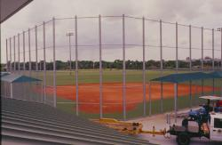 This is a view of one of the new softball fields at the Sportsplex in Coral Springs, FL.