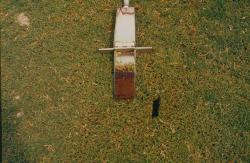 This is a soil profile of the multipurpose field that was constructed about a month before these photos were taken.  It is a sand based field that was sodded.  This soil profile taken with the Heavy Duty Mascaro Profile Sampler.