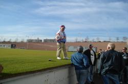 This is George Toma, Head Groundskeeper for the NFL Superbowl, speaking to the STMA Tour Group