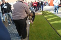 This is the same sod used on the Superbowl XLII field being measured with the Toma Shear Strength Tester.