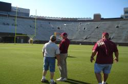 Doak Campbell Stadium at Florida State University had a good infiltration rate as well as a almost perfect uniformity in the irrigation system.