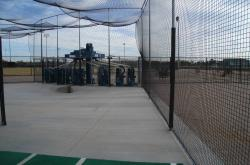 This is one of the automated batting cages at Rio Vista Regional Community Park in Peoria, CA.
