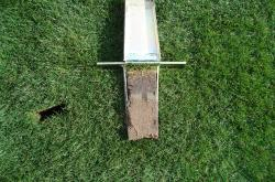 This is a Soil Profile sample taken with the Mascaro Profile Sampler from the baseball outfield at Maryvale Baseball Park, in Phoenix, Arizona.