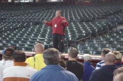 This is Grant Trenbeath speaking to the STMA Tour Group.  Grant is Sports Turf Manager at Chase Field.