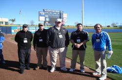 This is some of the 15 Sports Turf Managers from the MLB, NFL and MLS that spoke to our group.