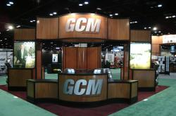 This is the Golf course Management booth at the GIS Show in Orlando.  Golf Course Management magazine is the official trade publication of the Golf Course Superintendents Association of America (GCSAA)