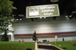 At the GIS Show in Orlando, a complete golf green was constructed indoors on the trade show floor complete with sand traps and natural turf varieties.