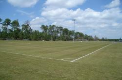 Here is one of the 419 bermudagrass multipurpose fields at the City of Callaway.  This field is set up for soccer.