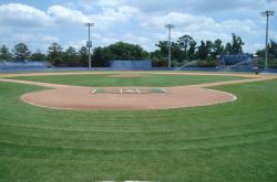 Here is another view of McKethan Stadium at Perry Field on the University of Florida Campus and can seat 5,500 fans.