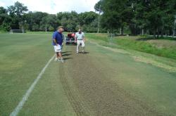 We also had a Verti-Cutting demonstration at the NFSTMA meeting at Jacksonville University.
