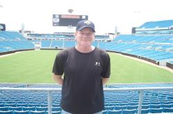 While In Jacksonville I also stopped by to see Jacksonville Municipal Stadium, the home field for the Jacksonville Jaguars.  This is Mark Clay, Sports Turf Manager for the stadium.