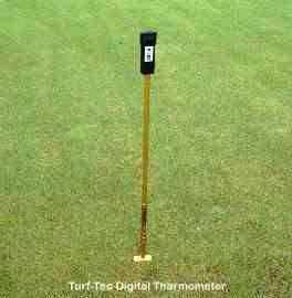 Turf-Tec Digital Thermometer for taking soil temperature readings.  It is adjustable to test the soil temperaturf at 1 inch, 2 inch and 3 inch depth.