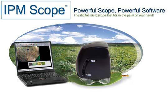 The Turf-Tec IPM Scope combines advanced digital optics and LED lighting in a computerized microscope that fits in the palm of your hand. 40 - 140X magnification lets you zoom in on the fine details of insects and plant disease symptoms.