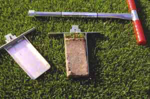"Turf-Tec Soil Profile Sampler - The original profile sampler!  This sampling tool will take an undisturbed soil profile 7"" deep, 3"" wide and 1/2"" thick. Sample can be photographed and replaced."