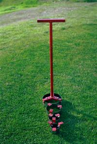 "Trim-Clean is for trimming the grass around sprinkler heads.  Units can be purchased with 5"", 6"", 7"" and 8"" diameter blades."